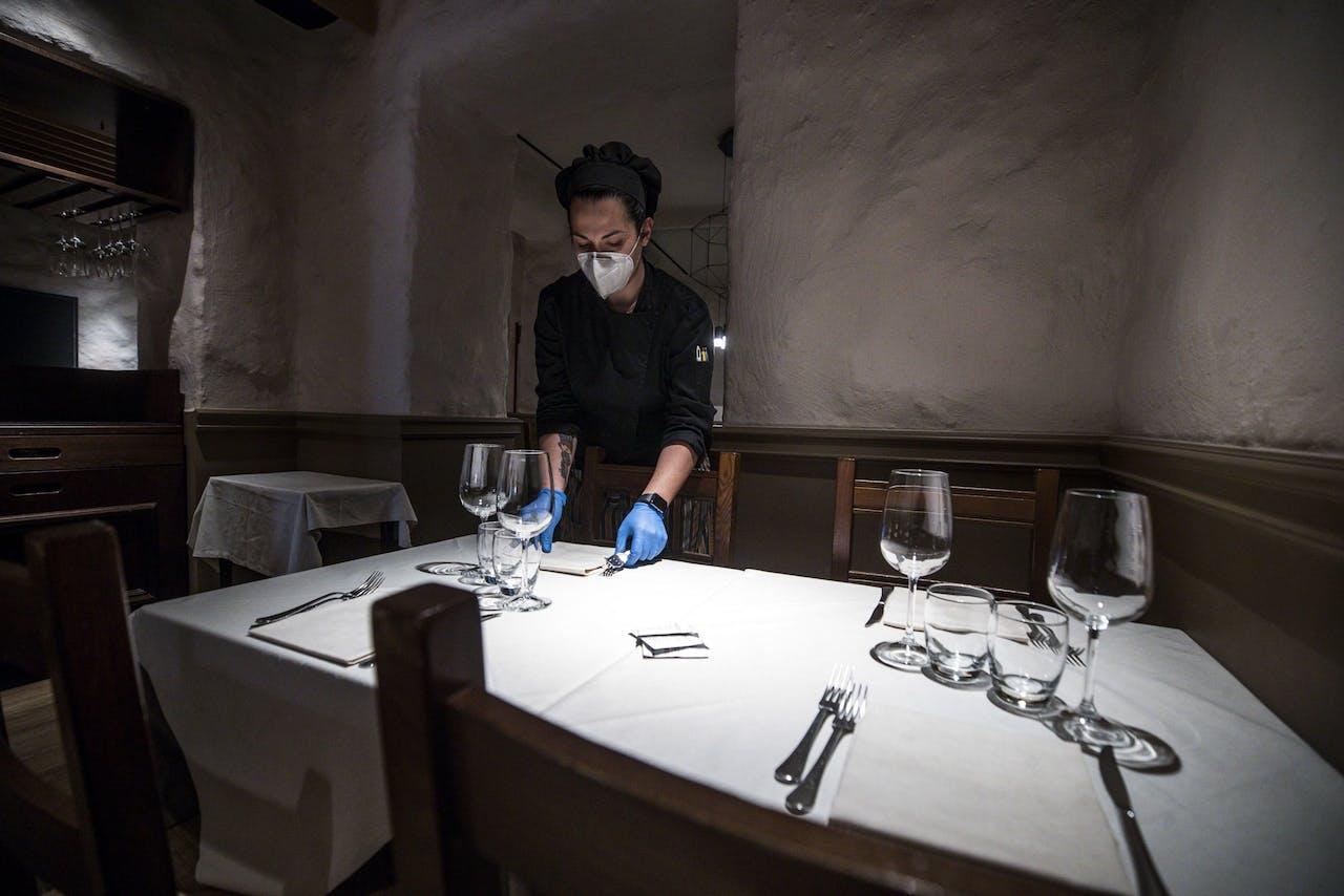 Een restaurant in coronatijd