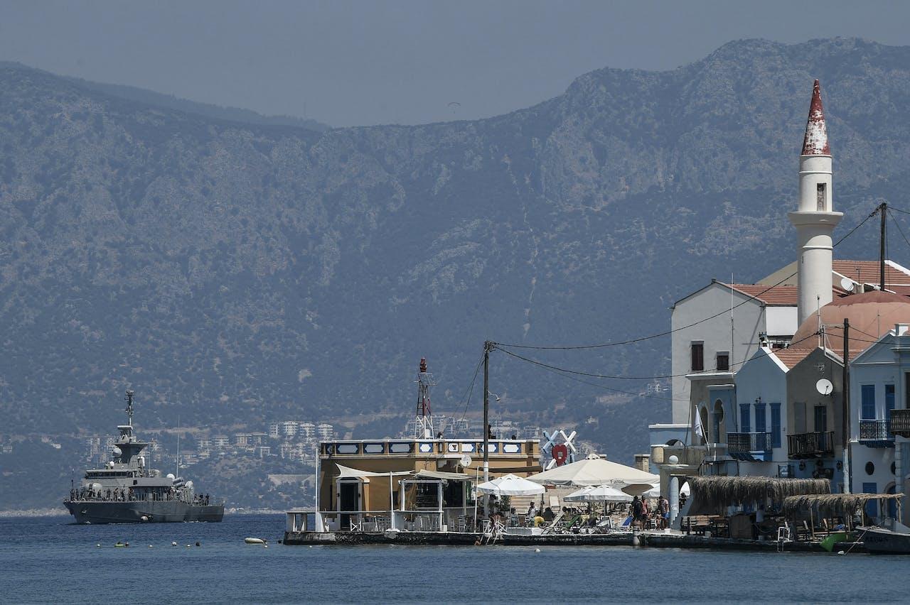 Een Grieks marineschip