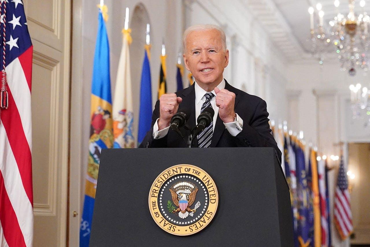 President Biden spreekt de natie toe