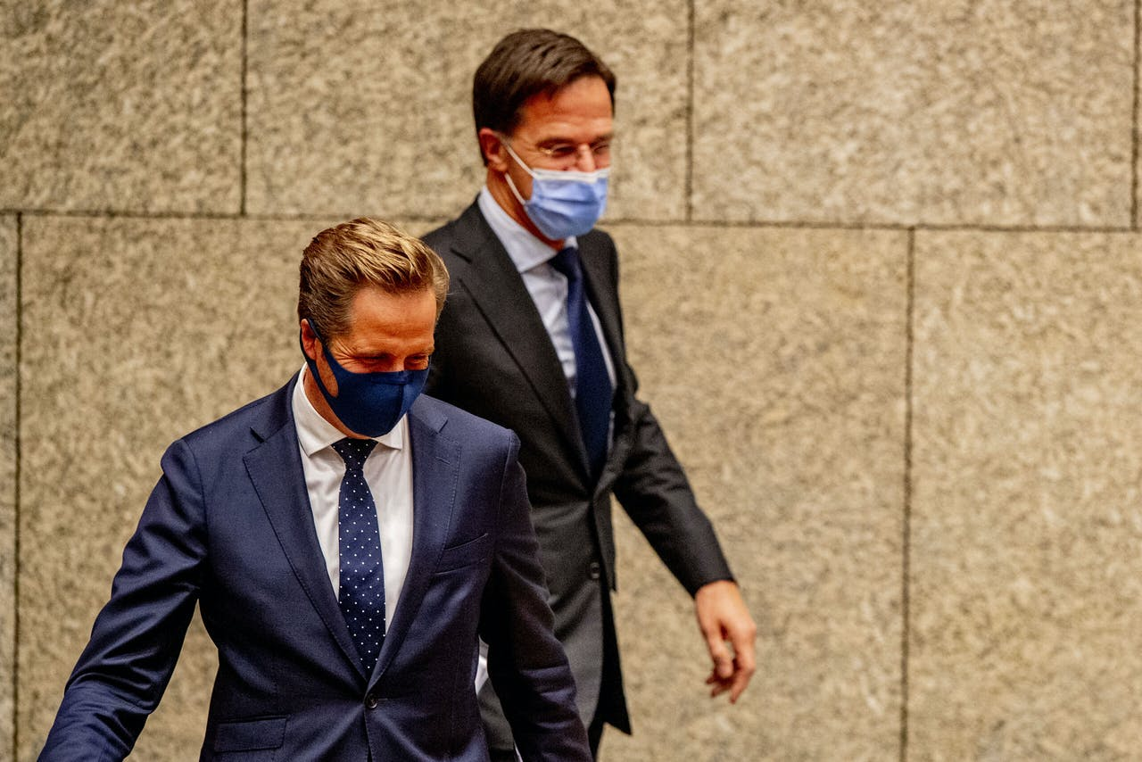 Premier Rutte en Minister Hugo de Jonge