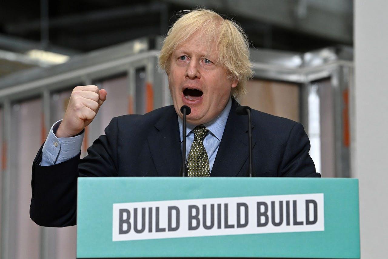 Boris Johnson wil bouwen, bouwen, bouwen