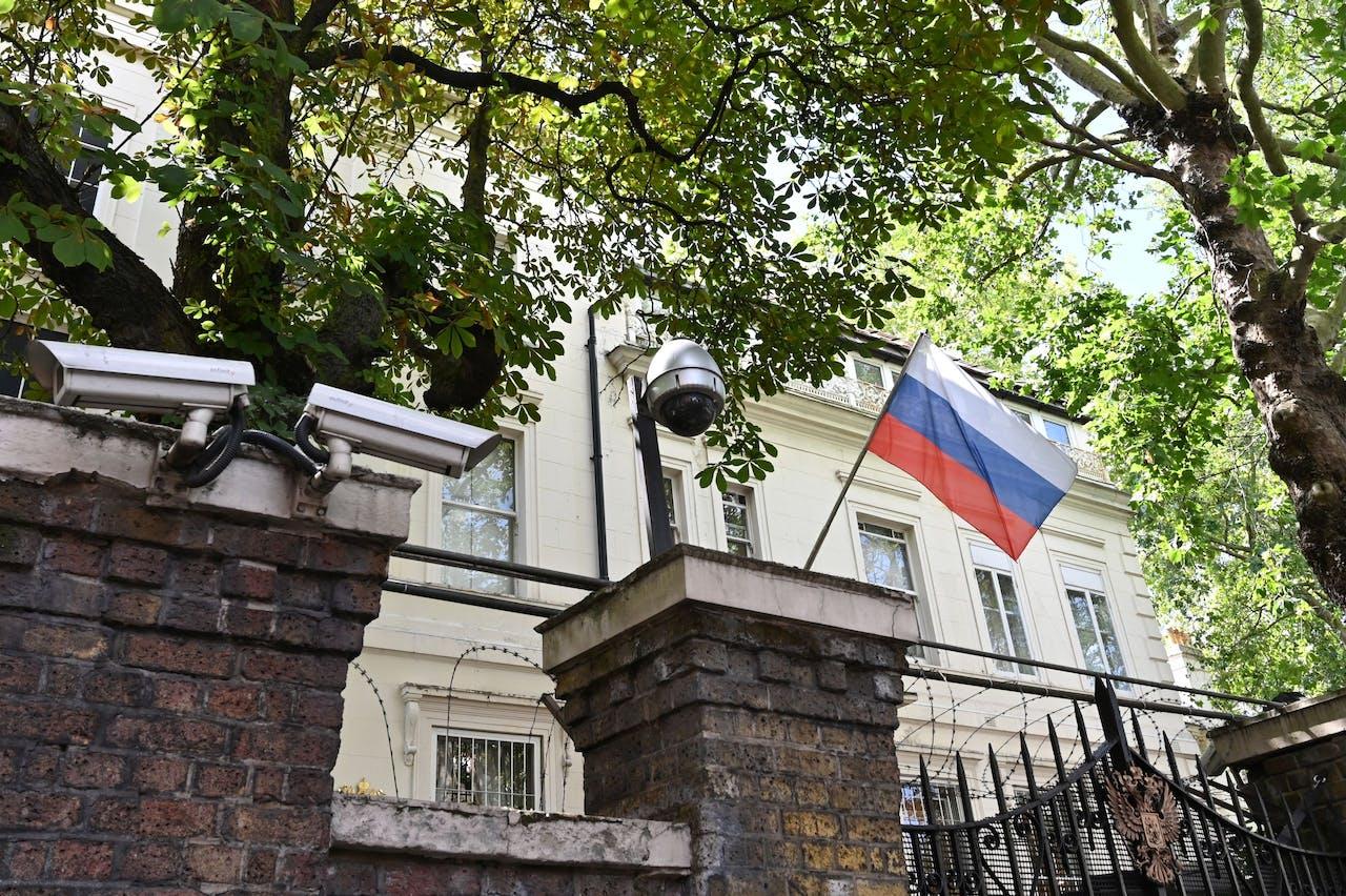 Ingang van het Russisch consulaat in Londen.