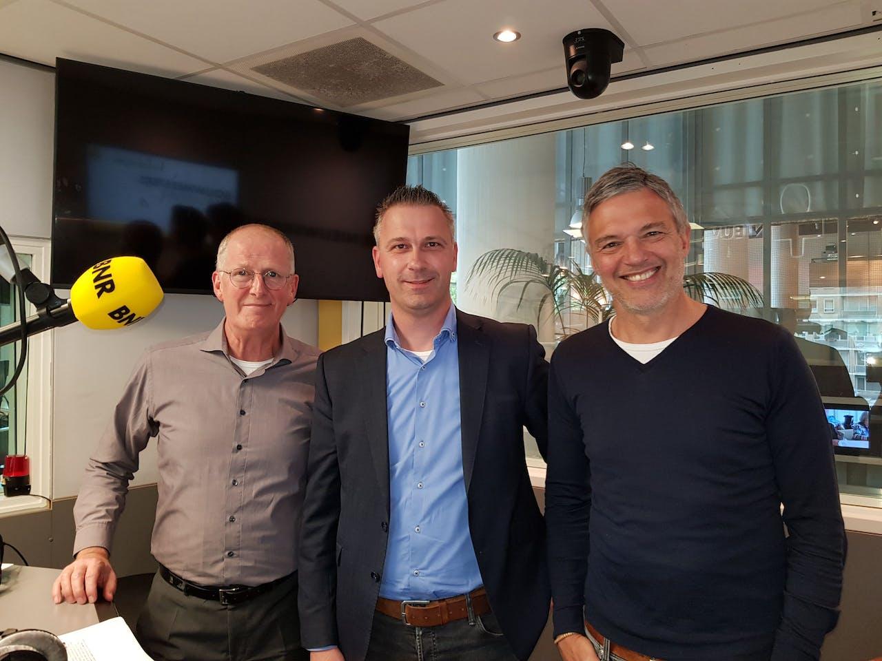 V.l.n.r.: Albert Bergers, Erik Colijn en Paul Laseur.