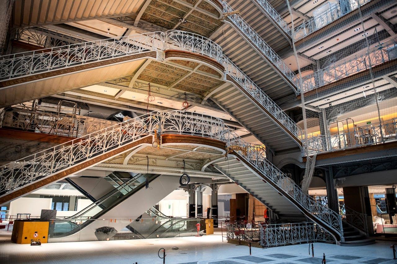 Interieur La Samaritaine, na 15 jaar verbouwing heropent het beroemde warenhuis in Parijs weer in april 20202