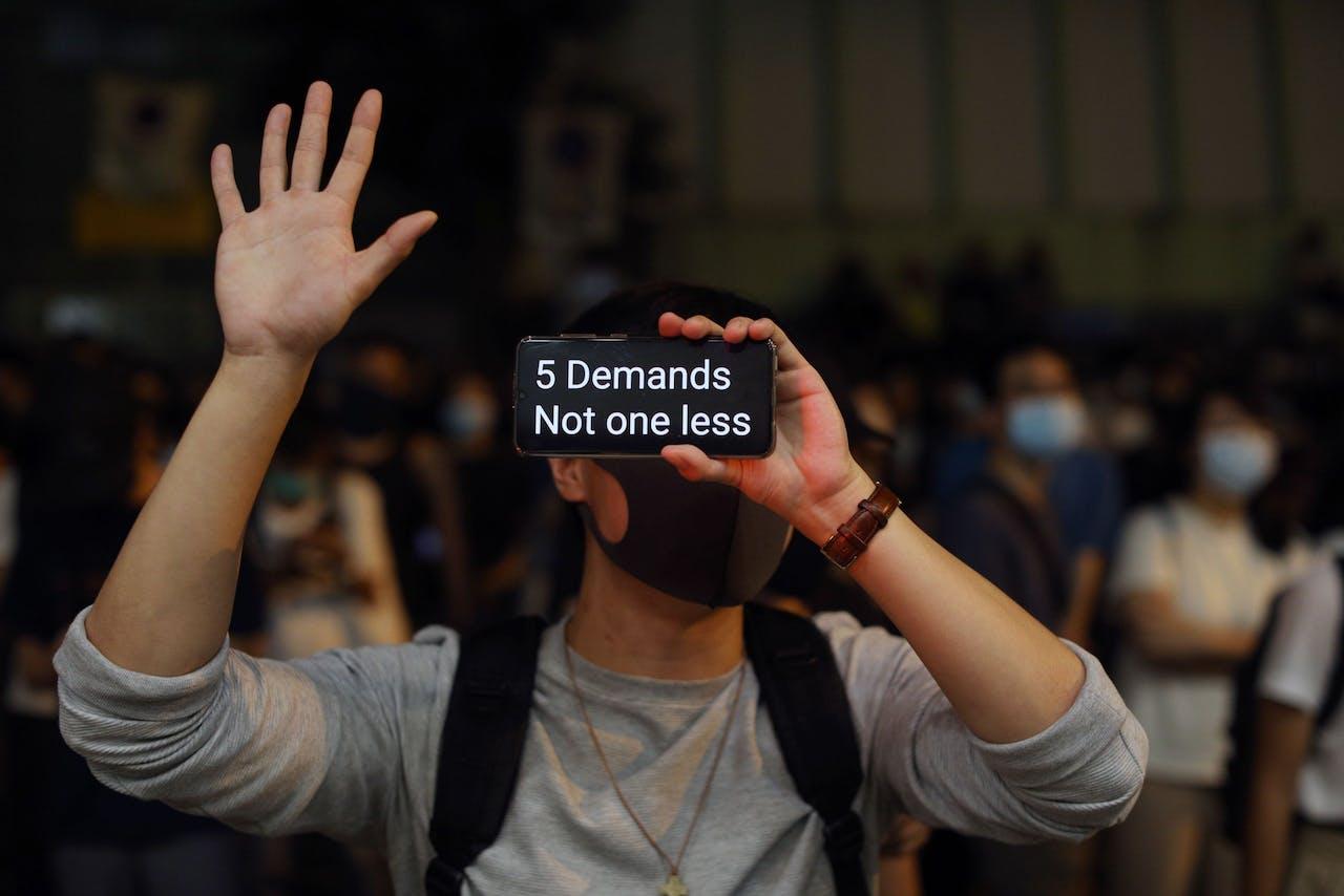 De demonstranten hebben vijf duidelijke eisen.