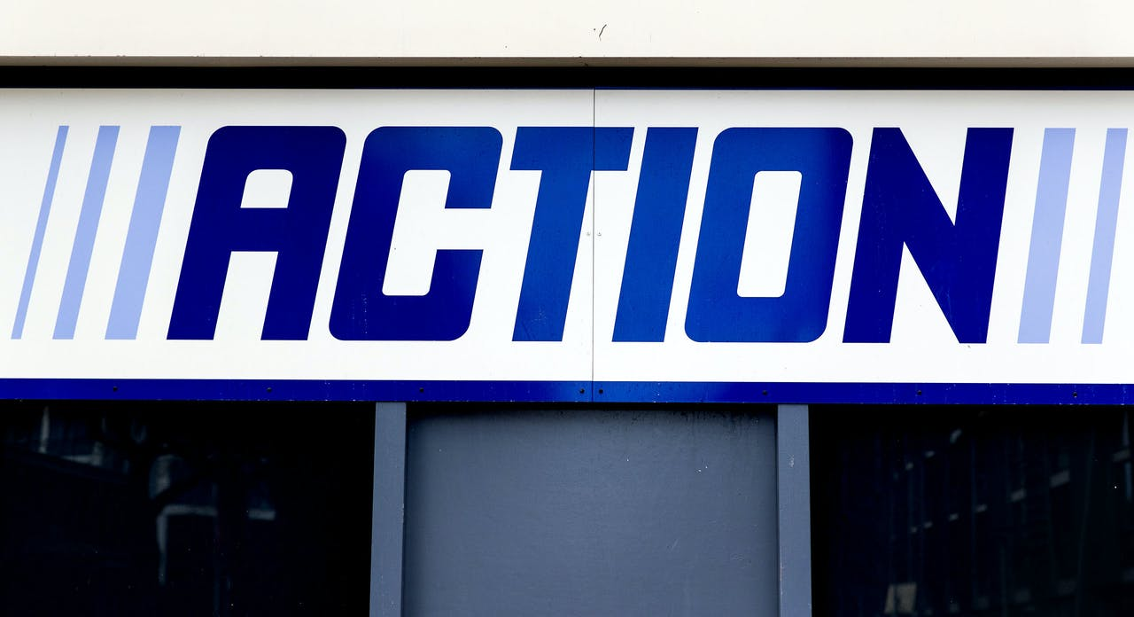 Exterieur van een Action winkel.