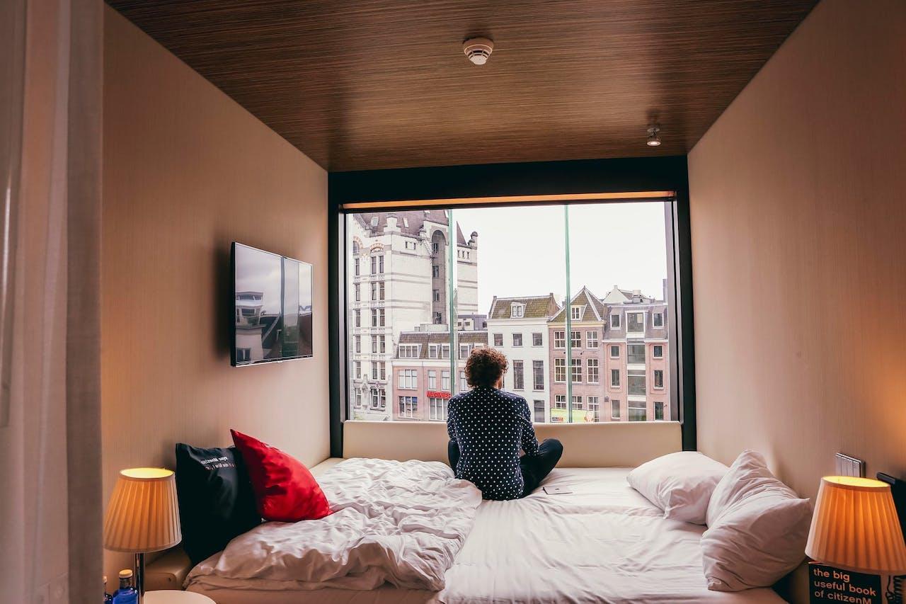 Hotelkamer van CitizenM.