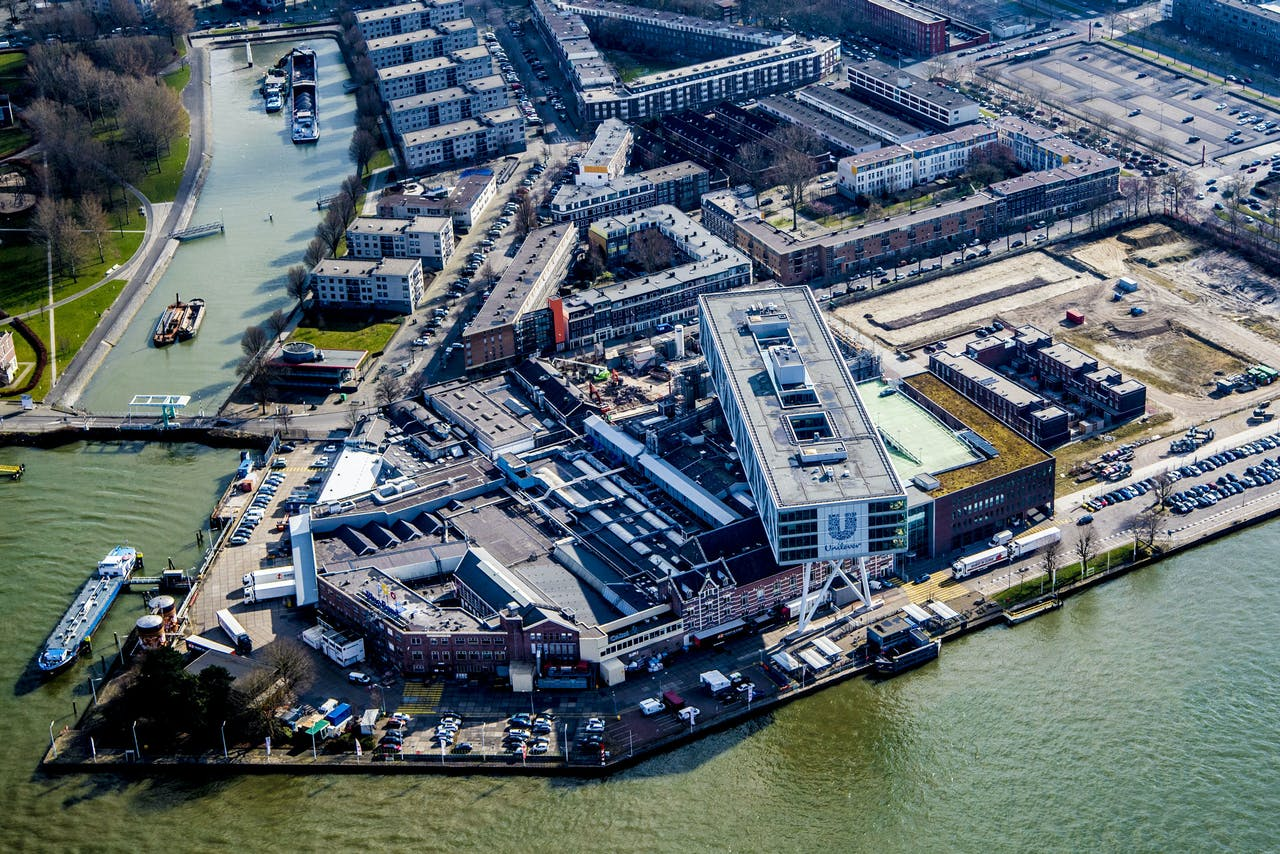 De Rotterdamse vestiging van Unilever in Rotterdam