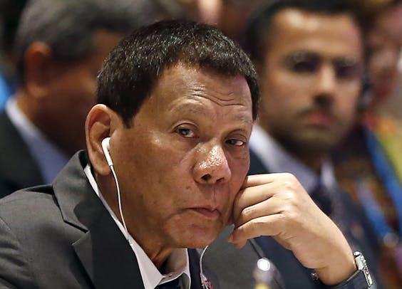 Filipijns president Rodrigo Duterte