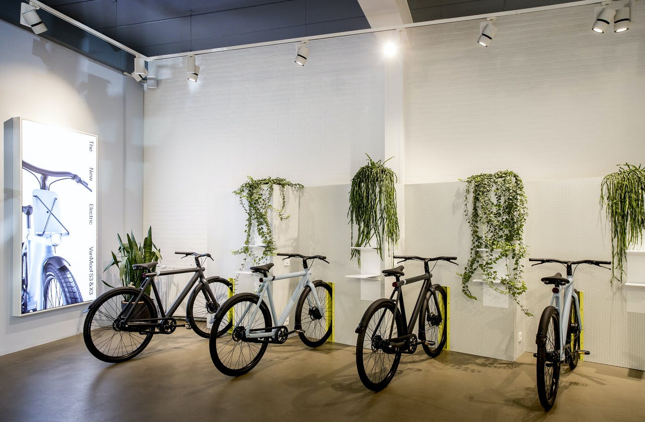 Elektrische fietsen van het bedrijf VanMoof.