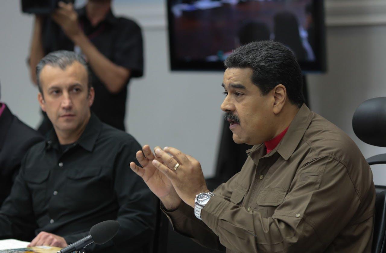 De Venezolaanse president Nicolas Maduro