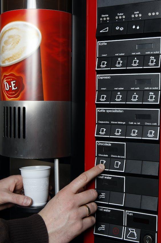 Koffieautomaat met beperkte keuze