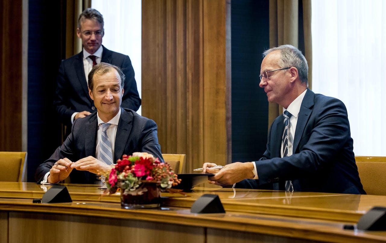 DEN HAAG - Henk Kamp als minister van Economische Zaken in 2017
