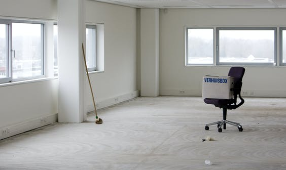 Een leeg kantoor