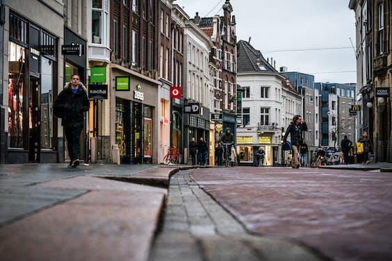 Winkelstraten in de binnenstad van Den Bosch