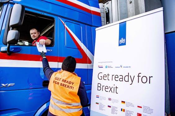 Flyeractie begin december voor Brexit