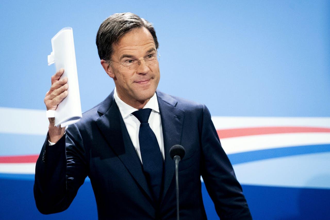 2020-10-23 15:46:36 DEN HAAG - Premier Mark Rutte tijdens zijn persconferentie na de wekelijkse ministerraad. ANP SEM VAN DER WAL