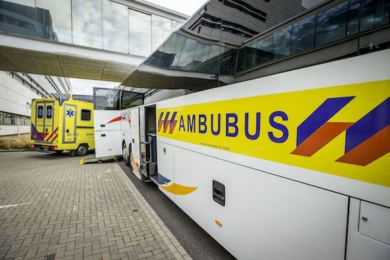 Een ambubus in Maastricht