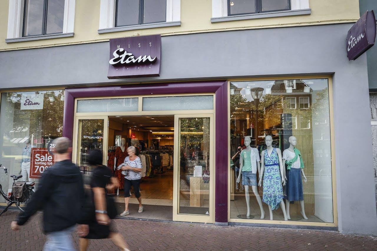 LEEUWARDEN - Exterieur van een vestiging van Miss Etam. Het moederbedrijf FNG heeft faillissement aangevraagd en is vrijdag failliet verklaard door de rechtbank.