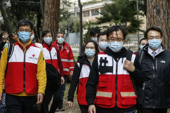 Chinese Rode Kruis-medewerkers