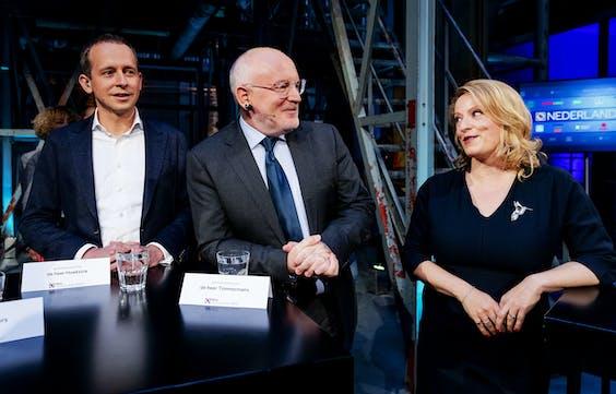 Frans Timmermans (PvdA) en Esther de Lange (CDA)