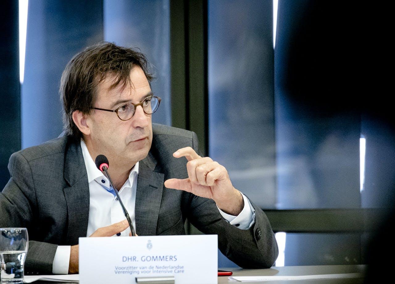 Diederik Gommers, voorzitter van de Nederlandse Vereniging voor Intensive Care.