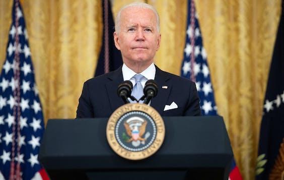 Joe Biden spreekt vanuit het Witte Huis