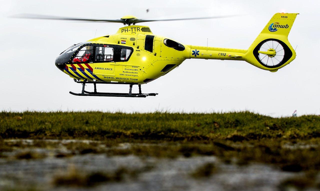 De traumahelikopter van de ANWB Medical Air Assistance