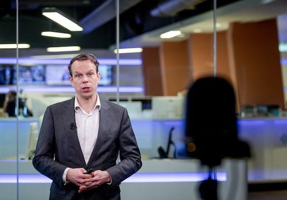 Hoofdeconoom Peter Hein van Mulligen van het Centraal Bureau voor de Statistiek (CBS)