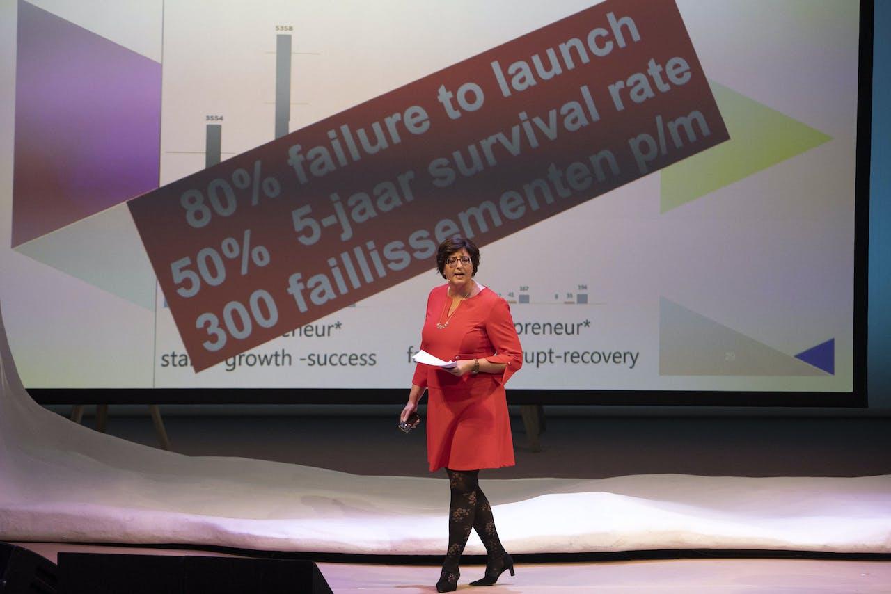 Ingrid Wakkee tijdens het Gala van de Wetenschap 2019