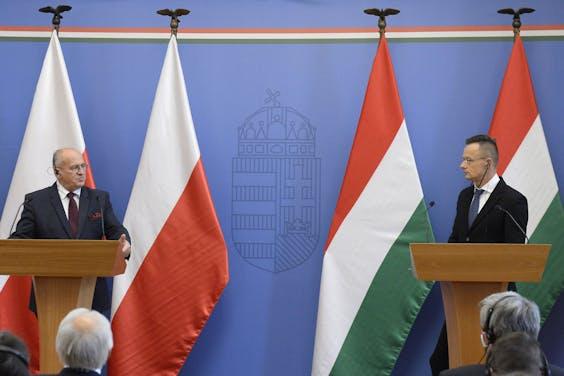 De ministers van Buitenlandse Zaken van Polen en Hongarije