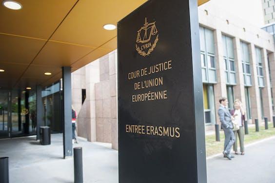 Het Europese Hof van Justitie in Luxemburg