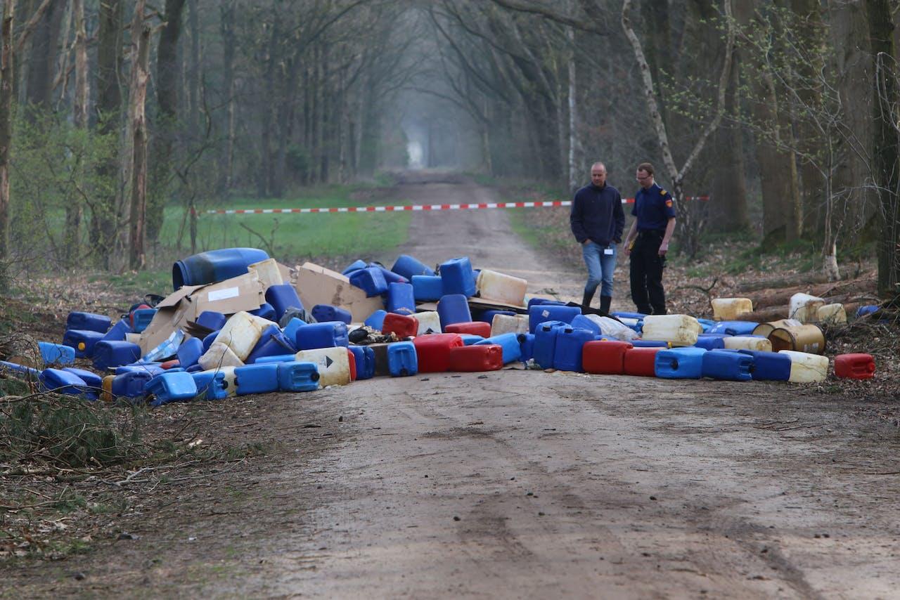 Gedumpt drugsafval in het Brabantse Best.