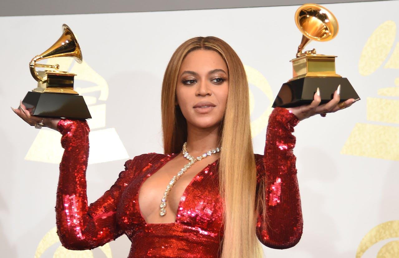 Beyonce met haar Grammy Awards