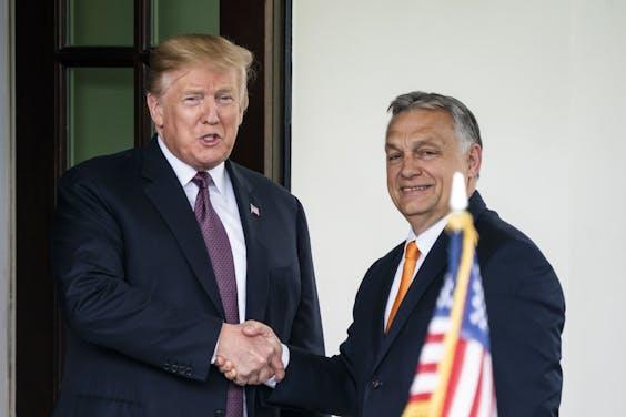 De Hongaarse premier Viktor Orban en de Amerikaanse president Donald Trump
