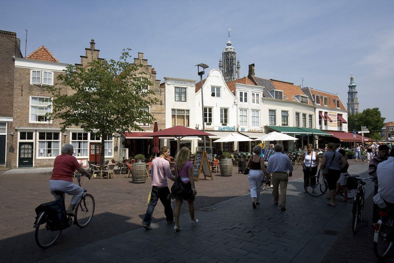 Het centrum van Middelburg