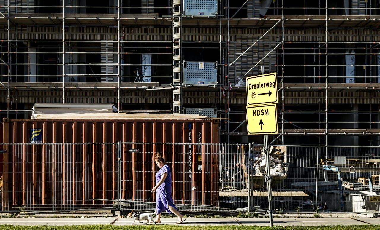 Een bouwproject in Buiksloterham, Amsterdam-Noord