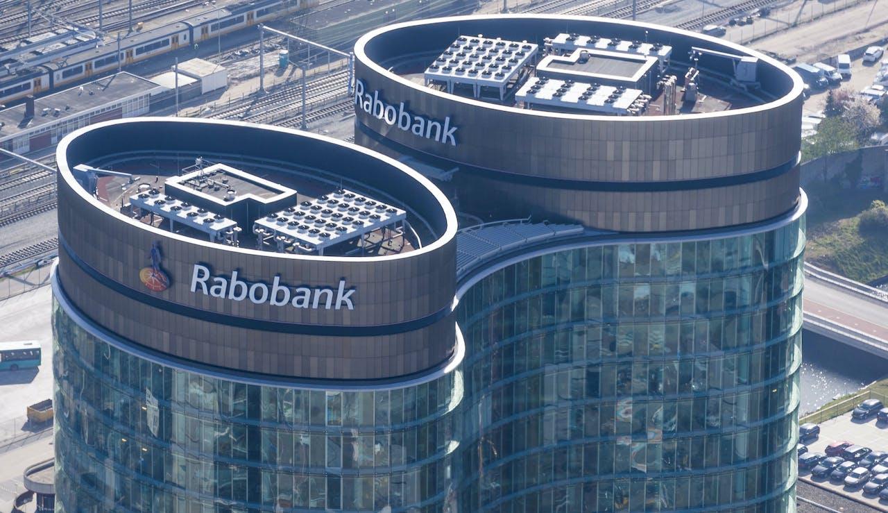 Luchtfoto van het hoofdkantoor van de Rabobank. ANP XTRA LEX VAN LIESHOUT