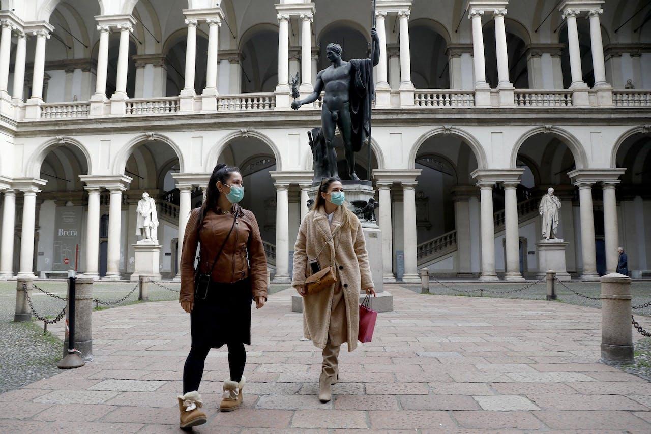 Toeristen in Milaan
