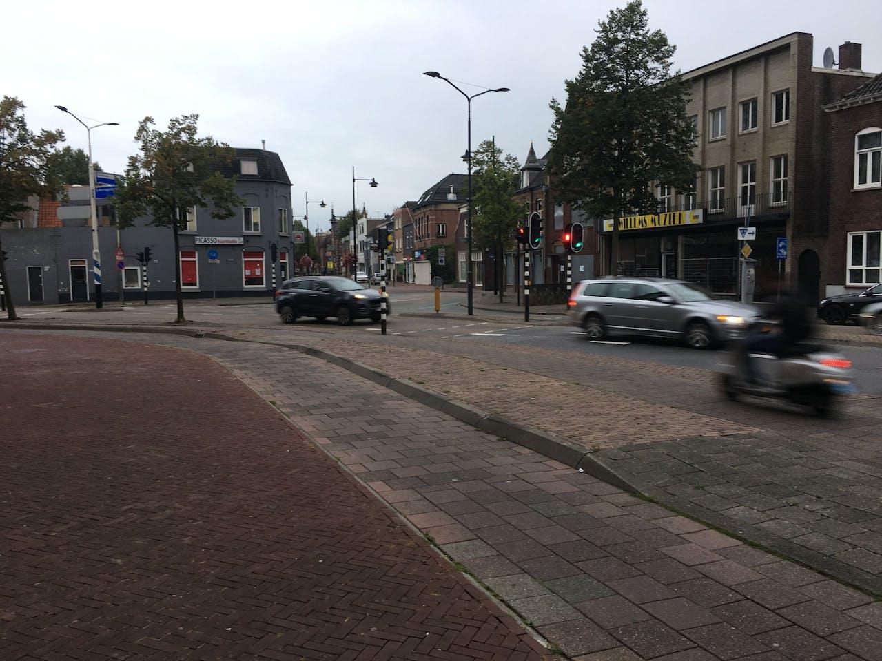 Het bewuste kruispunt in Helmond. Foto: Thomas Schuurman