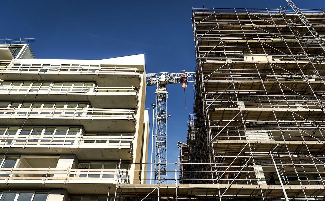 Een bouwproject in Amsterdam-Noord.