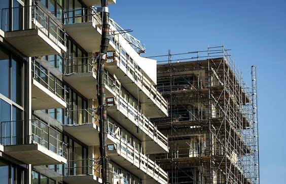 Een bouwproject in Buiksloterham, Amsterdam-Noord.