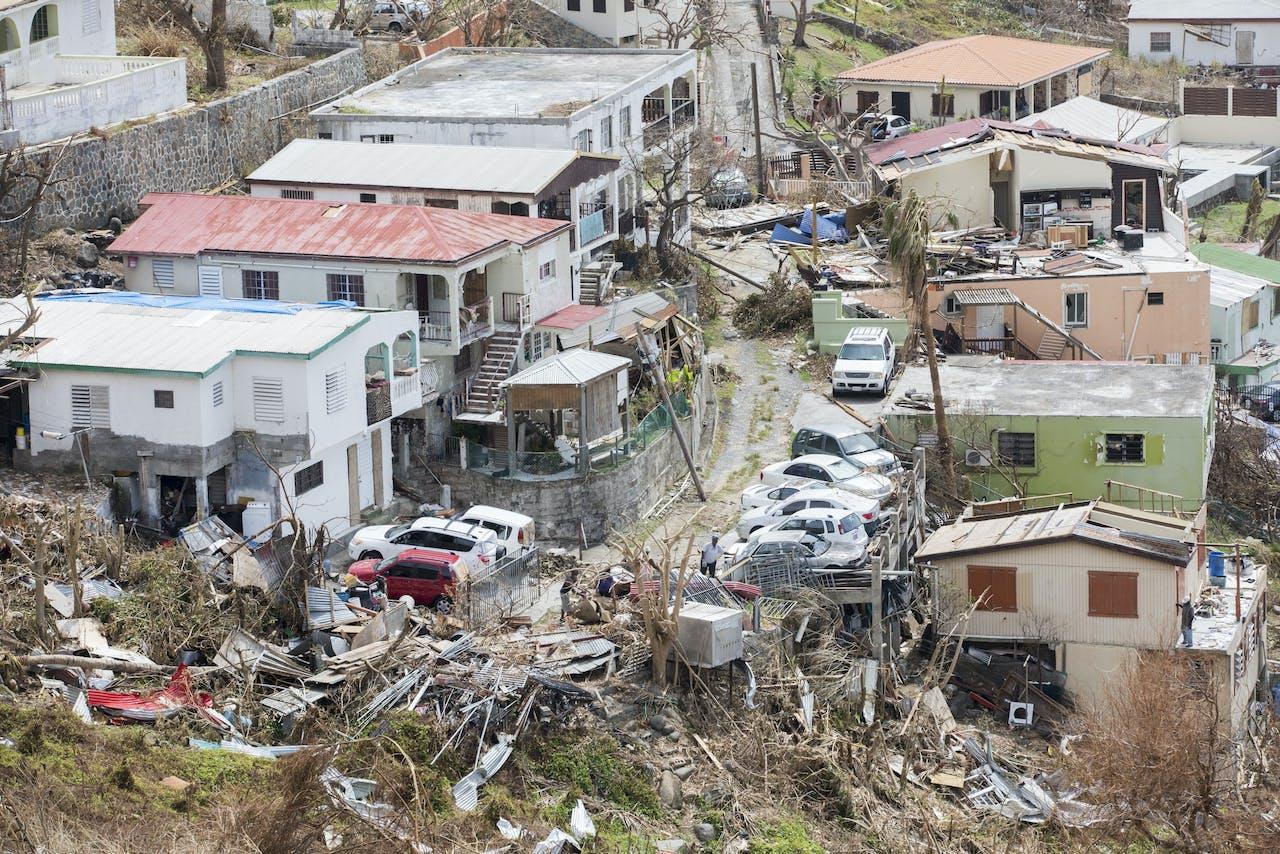 Ravage op het eiland Sint-Maarten.