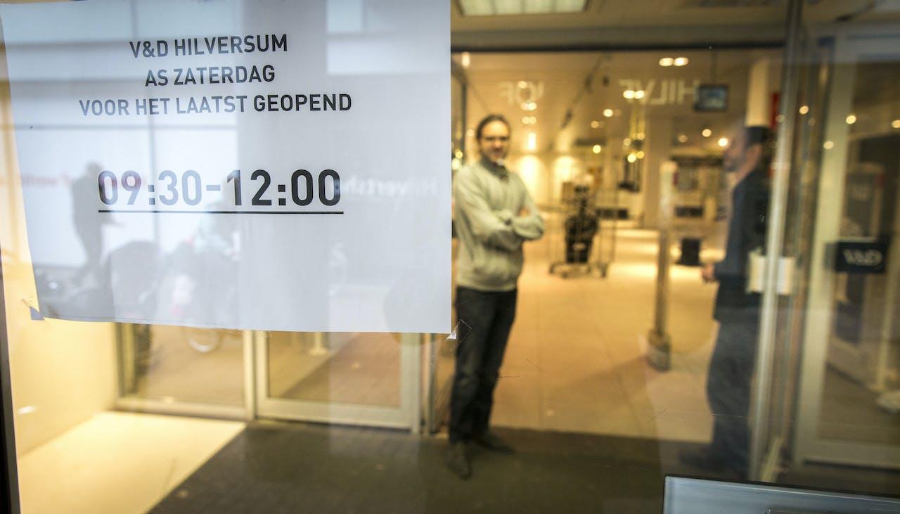 2015: V&D in Hilversum sluit als allerlaatste voorgoed de deuren