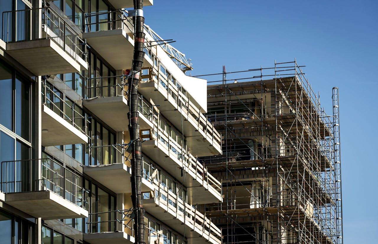 AMSTERDAM - Een bouwproject in Buiksloterham, Amsterdam-Noord. ANP REMKO DE WAAL