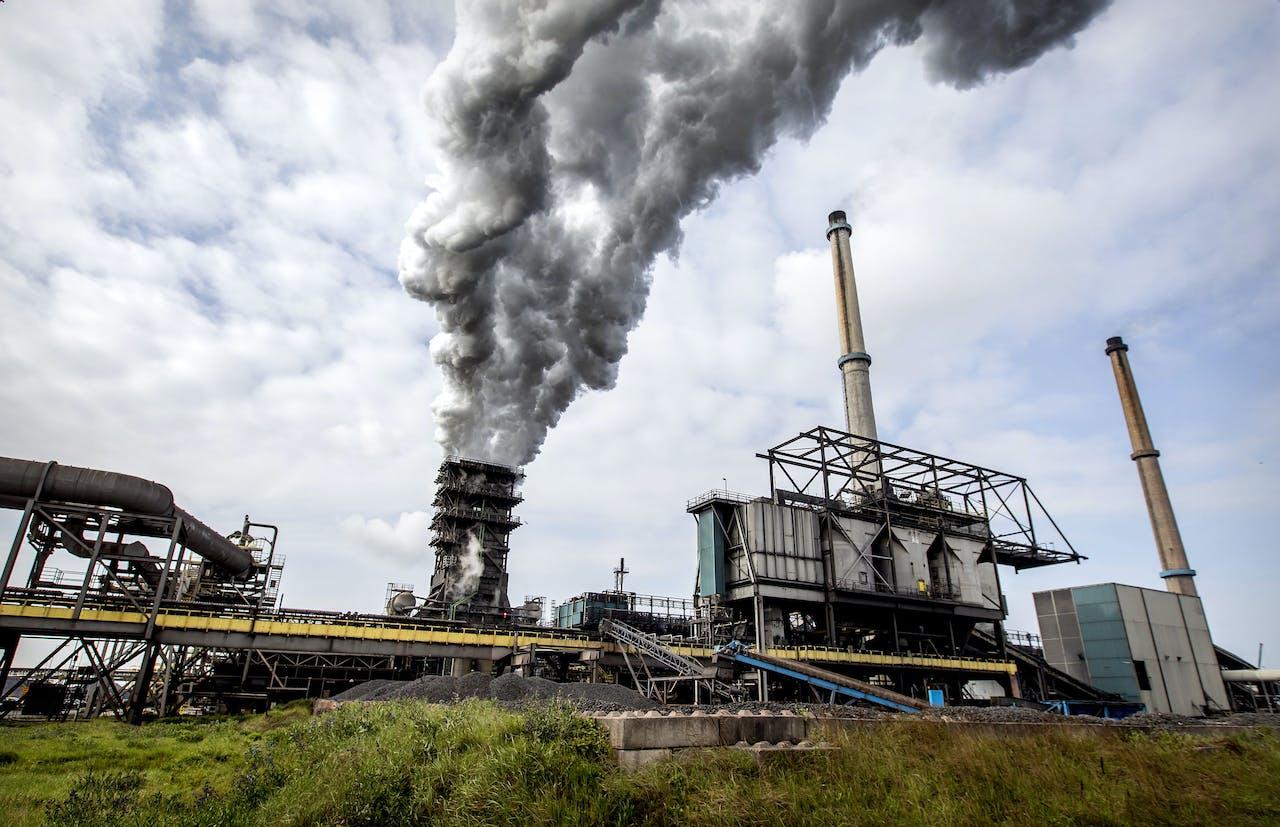 Het terrein van staalproducent Tata Steel.