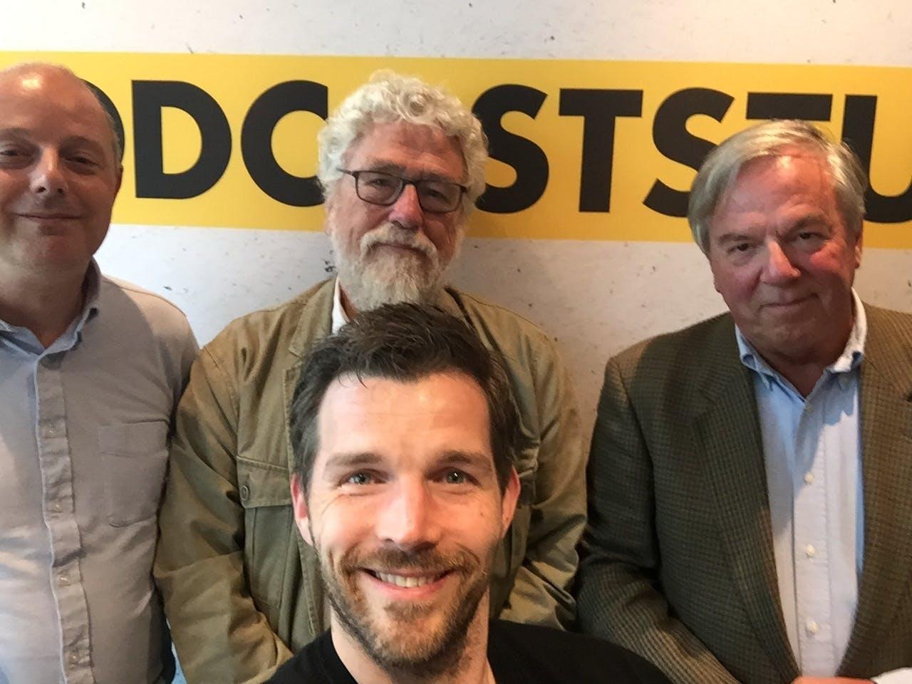 V.l.n.r. Mark Beekhuis, Jan van der Putten, John-Boy Vossen en Boudewijn Poldermans